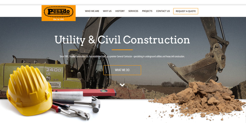 Pesado Construction's Website Design