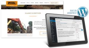 Custom WordPress CMS for Construction Company Website