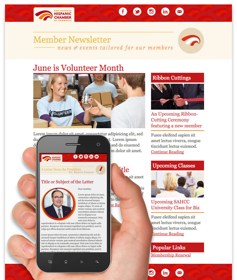 Email Member Newsletter