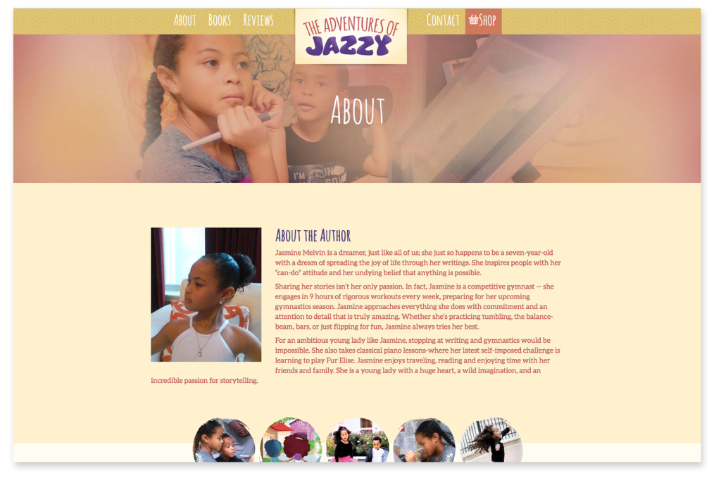 Adventures of Jazzy - About Page