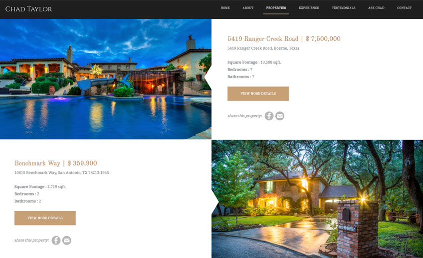 Property Listings Page