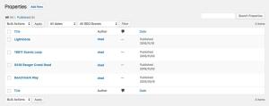 WordPress Property Listings