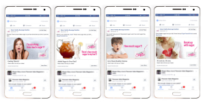 Facebook Static Ads for Sugar Packed Campaign