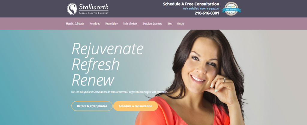 Plastic Surgery Website Rejuvenation