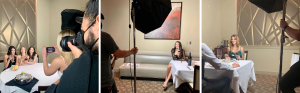 Vuepoint Photoshoot at J-Prime Steakhouse